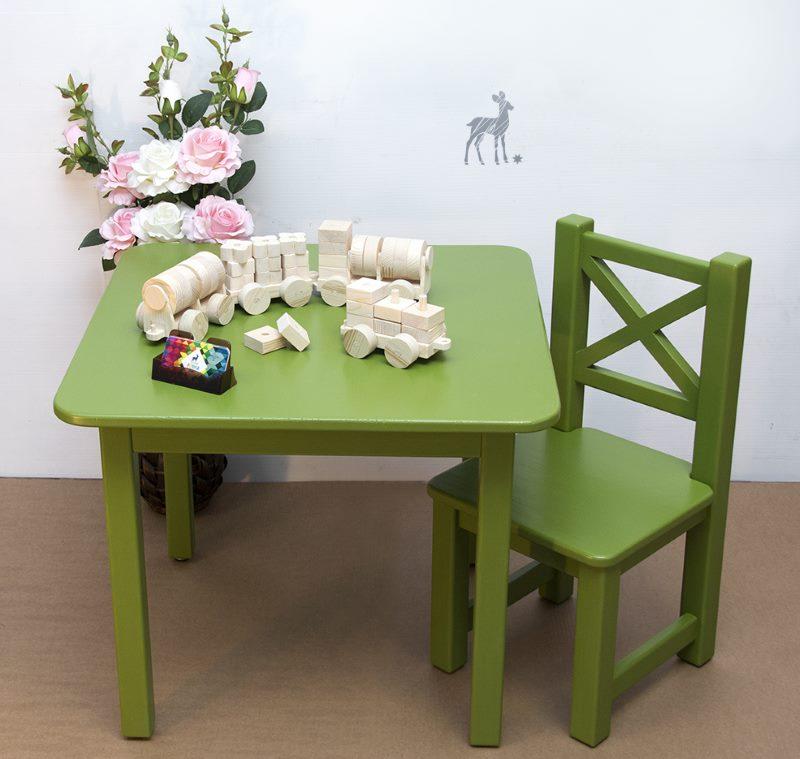 Детская мебель зеленого цвета для кухни