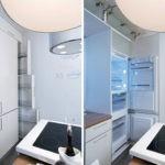 Встроенный холодильник в современной кухне