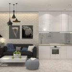 Если кухня оформлена в современном стиле, то можно покрыть выступающую часть конструкции грифельной краской
