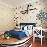 Кровать для мальчика в форме яхты
