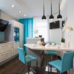 Дизайн кухни в морской стилистике