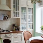 Кухня в стиле прованс в квартире панельного дома