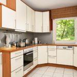 П-образный кухонный гарнитур с фасадами из МДФ