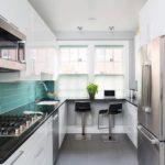 Рабочая зона кухни в современном стиле