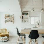 Круглые стеклянный плафоны кухонных светильников