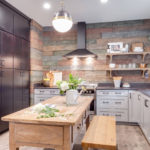 Освещение кухонного пространства в городской квартире