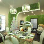 Дизайн кухни площадью в 13 кв метров в эко-стиле