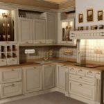 Классический кухонный гарнитур угловой планировки