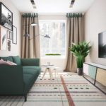 Картины на стене за диваном