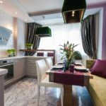 Оттенки фиолетового цвета в дизайне кухни