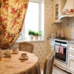Небольшая прямая кухня в стиле прованс