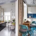 Варианты расстановки мебели в маленькой кухне