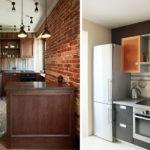 Мебель для узкой и вытянутой кухни