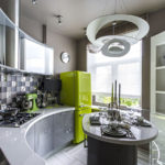 Кухонная мебель закругленной формы