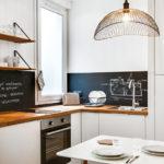 Черный фартук на кухне в стиле лофт
