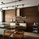 Отделка стен кухни ламинатом
