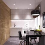 Оформление стен кухни деревянными панелями