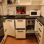 Место для посудомоечной машины в маленькой кухне
