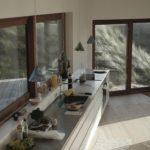 Проект дизайна кухни линейной планировки