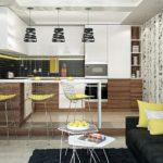 Желтый цвет в декорировании кухни
