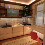 Подсветка на кухне небольшой площади