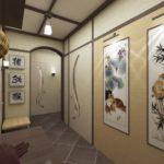 Картины в оформлении стен коридора