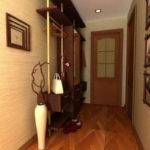 напольная ваза в интерьере коридора