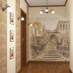 Фотообои в конце длинного коридора