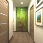 Фотообои в конце узкого коридора