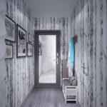 Дизайн коридора в серых оттенках