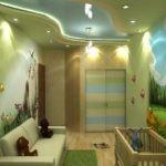 Освещение детской комнаты с кроваткой для младенца