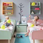 Разделение цветов в детской для разнополых детей