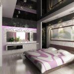 Флизелиновые обои в спальне в стиле арт-деко