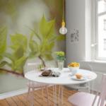 Фотообои на кухне помогут создать желаемый акцент на короткой стене