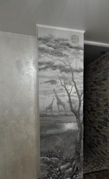 Художественная роспись вентиляционного короба
