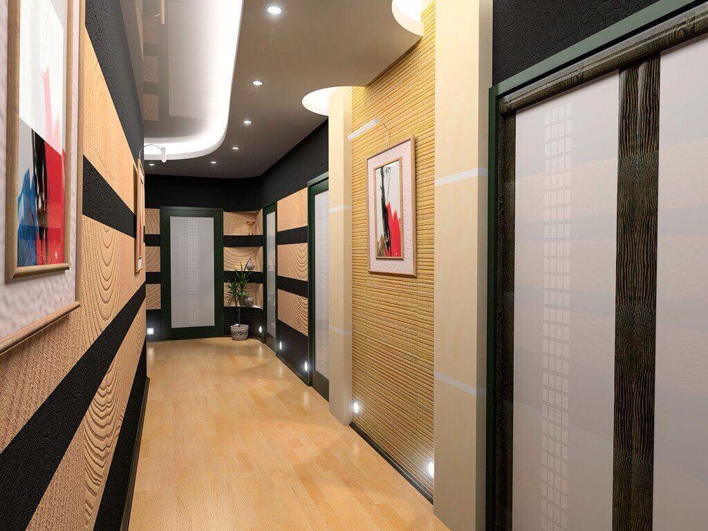 Красивый коридор вытянутой формы