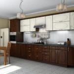 Классическая кухня в темном цвете