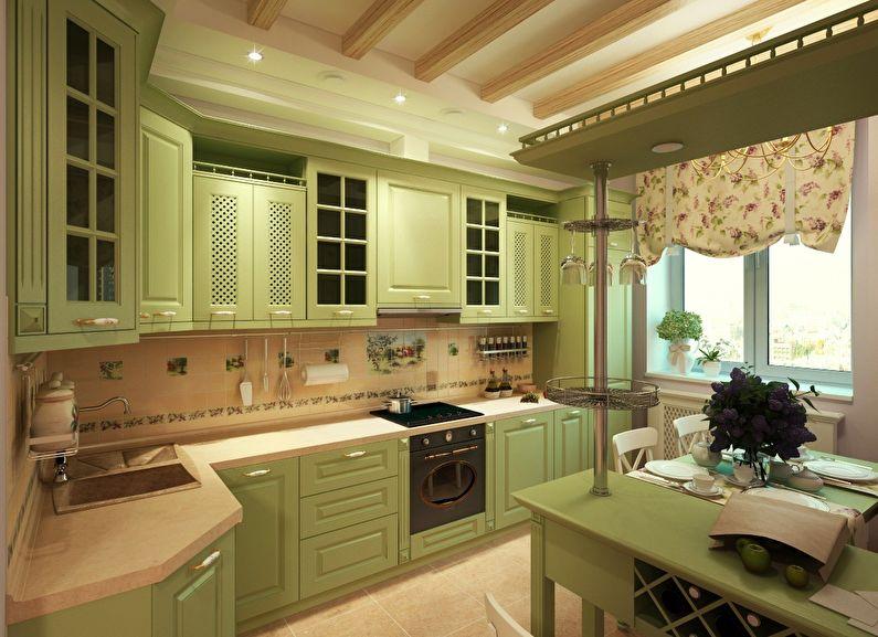 Дизайн кухни в классическом стиле площадью 10 кв метров
