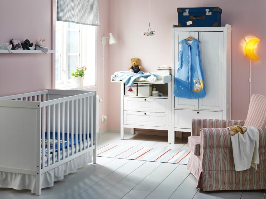 Оформление комнаты для новорожденного в розовых тонах
