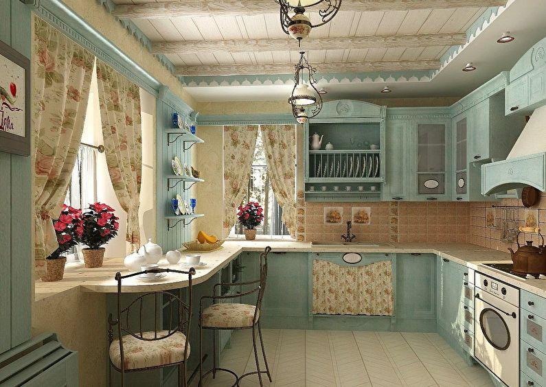 Деревенский стиль в оформлении кухни частного дома