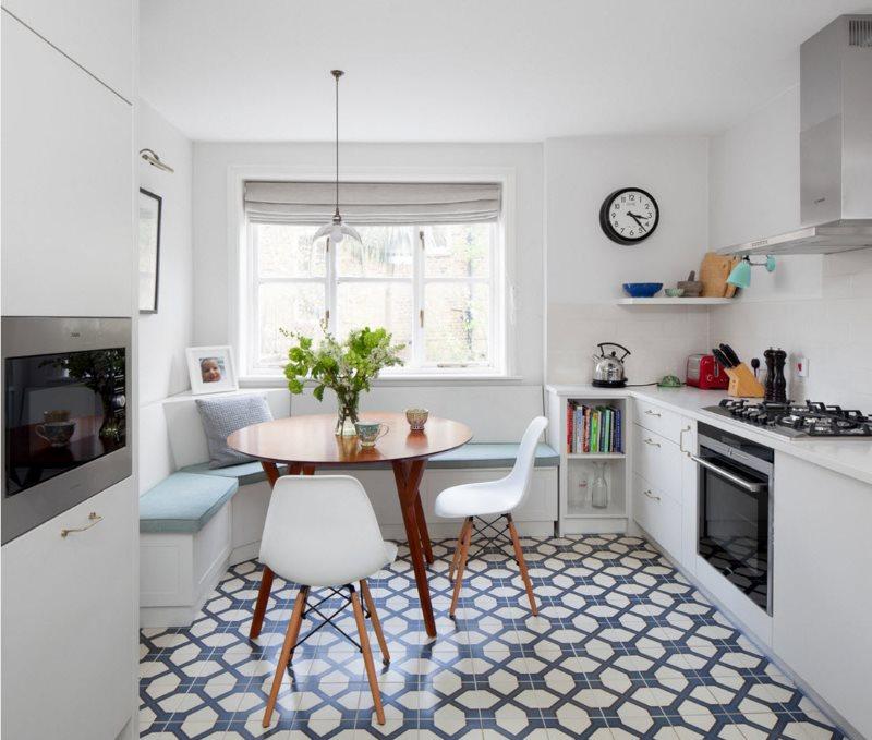 Дизайн светлой кухни площадью в 9 кв метров