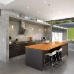 Бетон в интерьере кухнного пространства