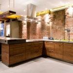 Освещение на кухне без подвесных шкафов