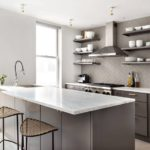 Оттенки серого цвета в интерьере кухни