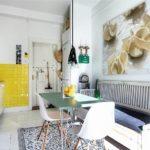 Желтый цвет в дизайне светлой кухни
