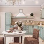 Дизайн светлой кухни в деревенском стиле