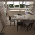 Кухня на балконе для экономии пространства в маленькой квартире