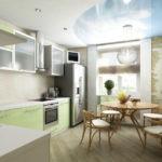 Кухня, совмещенной с балконом в интересном оформлении