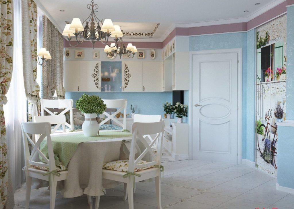 Дизайн кухни в пастельных оттенках