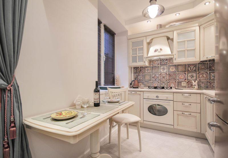 Дизайн небольшой кухни в стиле прованс